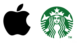 Apple and Starbucks