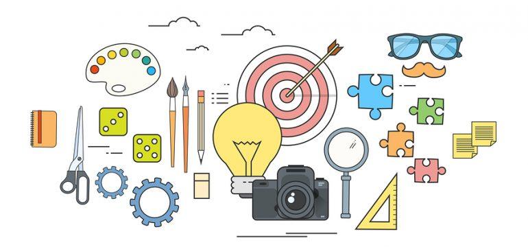 Creative Process Icon Designer Work Tools Color Logo