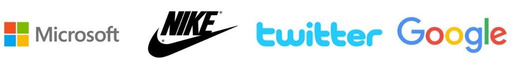 Google_Nike_Twitter_Microsoft_Logos