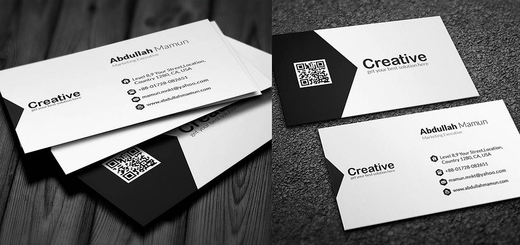 7 latest business card design ideas that work wonders business card with qr code colourmoves