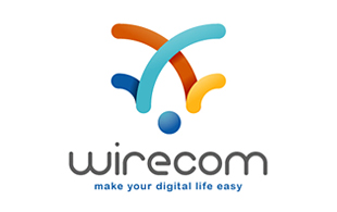 Wirecom Abstract Logo Design