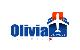 Olivia Fly Well Airlines-Aviation Logo Design