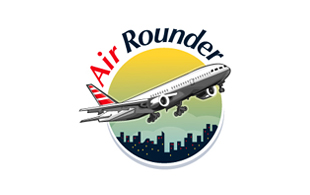Air Rounder Airlines-Aviation Logo Design