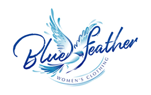Blue Feather Arty Logo Design