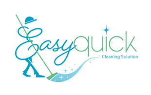 Easy Quick Cleaning & Maintenance Service Logo Design