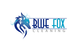Blue Fox Cleaning Cleaning & Maintenance Service Logo Design