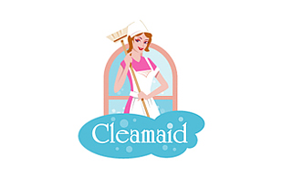 Cleamaid Cleaning & Maintenance Service Logo Design