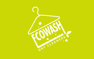 Ecowash Dry Cleaners Cleaning & Maintenance Service Logo Design