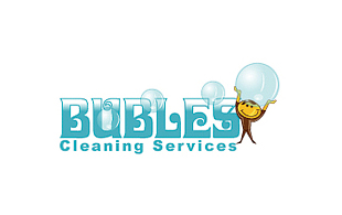 Bubles Cleaning Services Cleaning & Maintenance Service Logo Design