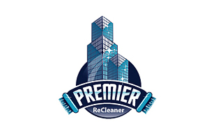 Premier Recleaner Cleaning & Maintenance Service Logo Design