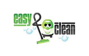 Easy & Clean Cleaning & Maintenance Service Logo Design