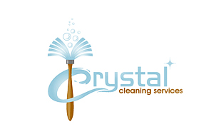 Crystal Cleaning Services Cleaning & Maintenance Service Logo Design