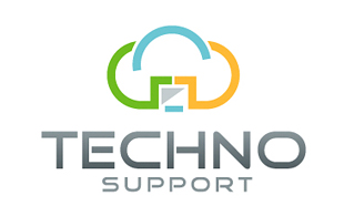Techno Support Cloud Computing Logo Design