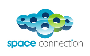 Space Connection Cloud Computing Logo Design