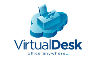 Virtual Desk Cloud Computing Logo Design