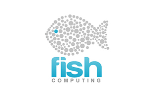 Fish Computing Cloud Computing Logo Design