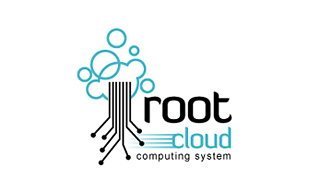 Root Cloud Cloud Computing Logo Design