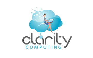 Clarity Computing Cloud Computing Logo Design