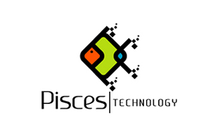 Pisces Computer Networking Logo Design