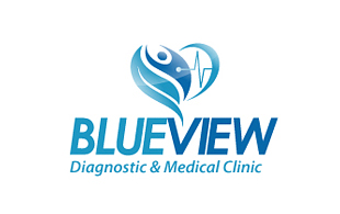 Blue View Diagnostic & Medical Clinic Logo Design