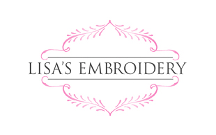 Lisa's Embroidery Feminine Logo Design