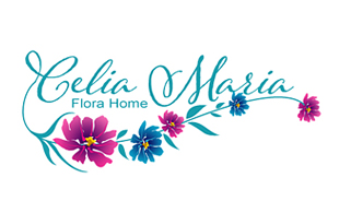 Celia Maria Flora home Floral & Decor Logo Design