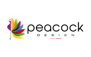 Peacock Design Floral & Decor Logo Design