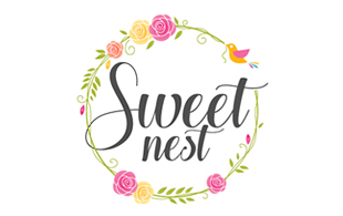 Sweet Nest Floral & Decor Logo Design