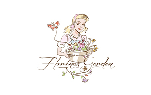 Florines Garden Floral & Decor Logo Design