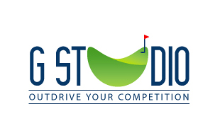 GST Dio Outdrive Your Competition Golf Courses Logo Design