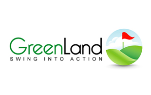 Greenland Swing into Action Golf Courses Logo Design