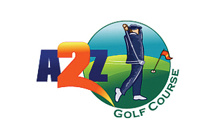 A2Z Golf Course Golf Courses Logo Design