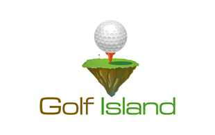 Golf Island Golf Courses Logo Design