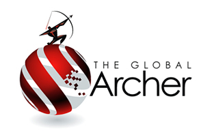 The Global Archer Iconic Logo Design
