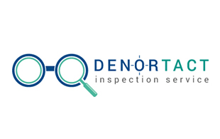 Denortact Inspection Service Inspection & Detection Logo Design
