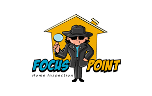 Focus Point Home inspection Inspection & Detection Logo Design