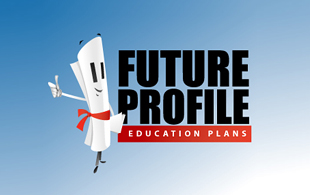 Future Profile Education Plans Insurance & Risk Management Logo Design