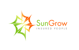 Sun Grow Insured people Insurance & Risk Management Logo Design