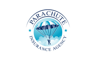 Parachute Insurance Agency Insurance & Risk Management Logo Design