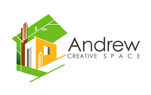 Andrew Creative Space Interior & Exterior Logo Design