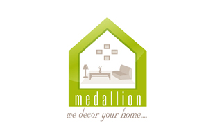 Medallion We Decor Your Home Interior & Exterior Logo Design