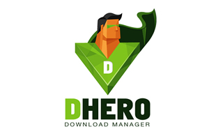 Dhero Download Manager Internet & Cable Logo Design