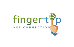 Fingertip Net Connection Internet & Cable Logo Design