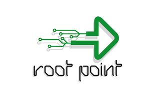 Root Point Internet & Cable Logo Design