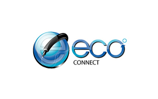 Eco Connect Internet & Cable Logo Design
