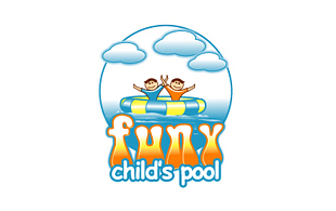 Funy child's pool Kids Logo Design