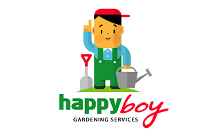 Happy Boy Landscaping & Gardening Logo Design