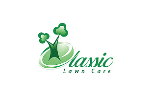 Classic Lawn Care Landscaping & Gardening Logo Design