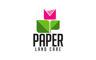 Paper Land Care Landscaping & Gardening Logo Design