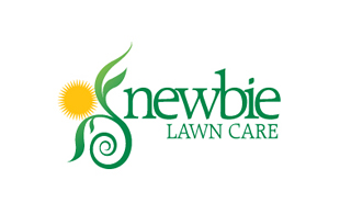 Newbie Lawn Care Landscaping & Gardening Logo Design